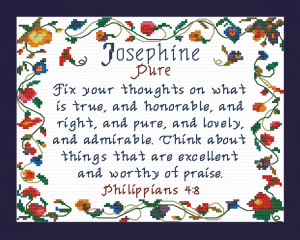 Name Blessings - Josephine | Crafting | Cross-Stitch | Religious