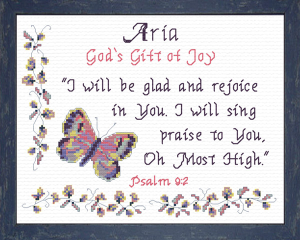 Name Blessings - Aria | Crafting | Cross-Stitch | Religious