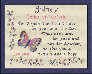 Name Blessings - Sidney | Crafting | Cross-Stitch | Other
