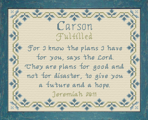 Name Blessings - Carson 4 | Crafting | Cross-Stitch | Other