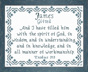 Name Blessings - James 3 | Crafting | Cross-Stitch | Religious