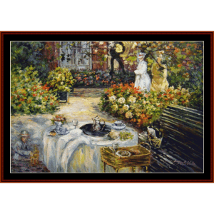 a luncheon - monet cross stitch pattern by cross stitch collectibles