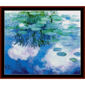 Waterlilies, 1914 - Monet cross stitch pattern by Cross Stitch Collectibles | Crafting | Cross-Stitch | Wall Hangings