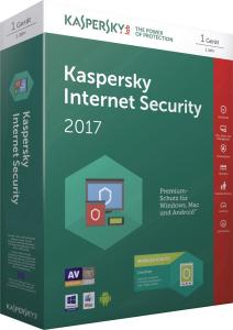 kaspersky internet security 2017 - 1user/1year worldwide