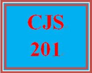 cjs 201 week 1 criminal justice system paper