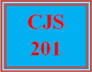 cjs 201 week 5 outline of final paper