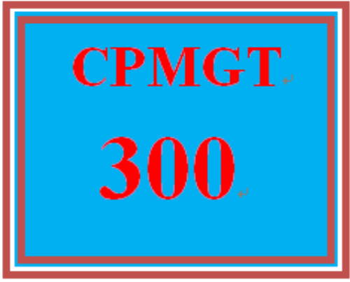 First Additional product image for - CPMGT 300 Week 4 Managing a Project Schedule