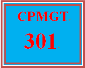 cpmgt 301 week 2 project activities and sequencing scenario