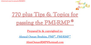 770 plus tips & topics for passing the pmi-rmp ®