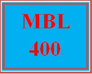 MBL 400 Week 5 Individual: Research | eBooks | Education