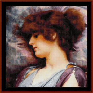 Far Away Thoughts, 1892 - Godward cross stitch pattern by Cross Stitch Collectibles | Crafting | Cross-Stitch | Wall Hangings