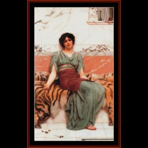 sweet dreams, 1901 - godward cross stitch pattern by cross stitch collectibles
