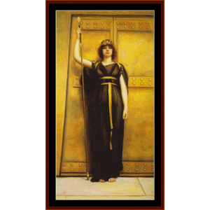 The Priestess, 1895 - Godward cross stitch pattern by Cross Stitch Collectibles | Crafting | Cross-Stitch | Wall Hangings