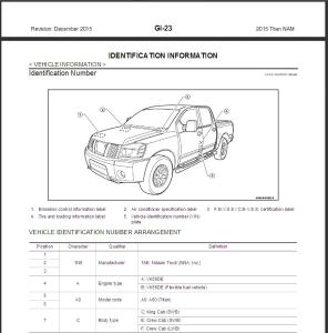 2015 nissan titan a60 service & repair manual
