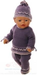 DollKnittingPatterns 0167D SYNNE - Bukse, tunika, lue, kortermet bluse og sokker-(Norsk) | Crafting | Knitting | Other