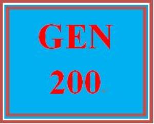 GEN 200 Week 1 Student Resources Worksheet | eBooks | Education