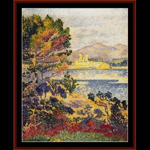 Antibes, Morning - H.E. Cross cross stitch pattern by Cross Stitch Collectibles | Crafting | Cross-Stitch | Wall Hangings
