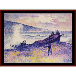 The Wreck - H.E. Cross cross stitch pattern by Cross Stitch Collectibles | Crafting | Cross-Stitch | Wall Hangings