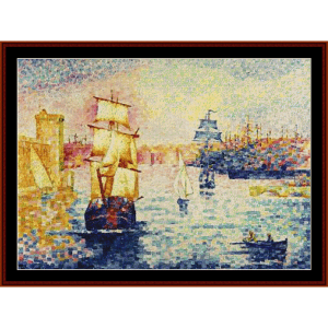 Port of Marseilles - H.E. Cross cross stitch pattern by Cross Stitch Collectibles | Crafting | Cross-Stitch | Wall Hangings