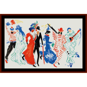 Figures from a Carnival - Derain cross stitch pattern by Cross Stitch Collectibles | Crafting | Cross-Stitch | Wall Hangings