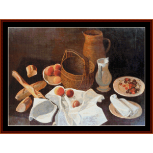 still life with fruit - derain cross stitch pattern by cross stitch collectibles