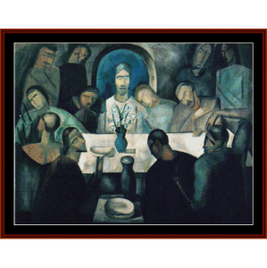 the last supper, 1911 - derain cross stitch pattern by cross stitch collectibles