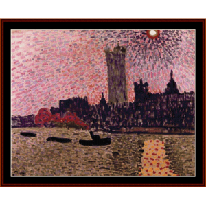 westminster abbey, 1905 - derain cross stitch pattern by cross stitch collectibles