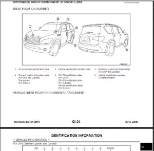 infiniti qx80 z62 2015 service repair manual & wiring diagram
