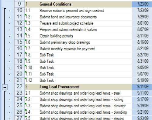 Fourth Additional product image for - Commmercial Construction Schedule Excel Template 7-Day View