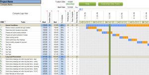 commmercial construction schedule excel template 7-day view