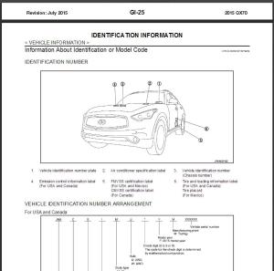 2015 infiniti qx70 s51 service repair manual & wiring diagram