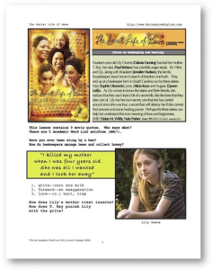 SECRET LIFE OF BEES, Whole-Movie English (ESL) Lesson | eBooks | Education