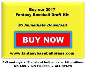 2017 fantasy baseball draft kit