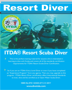 resort scuba diver with e-certification