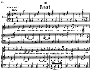 rast d.911-10, low voice in a minor, f. schubert (winterreise) pet.