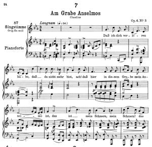 Am grabe Anselmos D.504, Low Voice in C minor, F. Schubert   eBooks   Sheet Music
