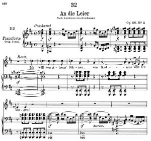 An die Leier D.737, Low Voice in D Major, F. Schubert | eBooks | Sheet Music