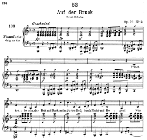 Auf der Brück D.833, Low Voice in F Major, F. Schubert   eBooks   Sheet Music
