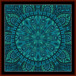 Fractal 606 cross stitch pattern by Cross Stitch Collectibles | Crafting | Cross-Stitch | Wall Hangings