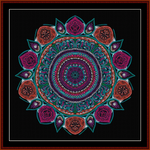 Fractal 607 cross stitch pattern by Cross Stitch Collectibles | Crafting | Cross-Stitch | Wall Hangings