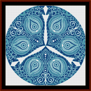 Fractal 608 cross stitch pattern by Cross Stitch Collectibles | Crafting | Cross-Stitch | Wall Hangings