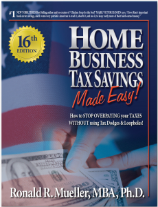 home business tax savings, made easy (16th ed. rev) e-book