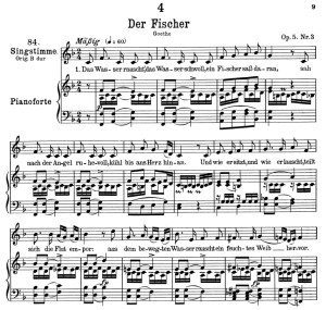Der Fischer D.225,  Low Voice in F Major, F. Schubert | eBooks | Sheet Music