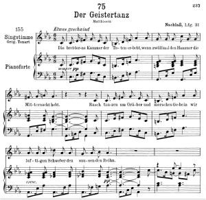 Der Geistertanz D.116,  Low Voice in C minor, F. Schubert | eBooks | Sheet Music
