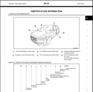 2015 infiniti q50 v37 service repair manual & wiring diagram