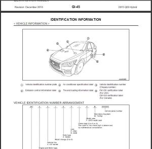 2015 infiniti q50 hybrid v37 service repair manual & wiring diagram