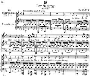 Der Schiffer D.536,  Low Voice in E-Flat Major, F. Schubert | eBooks | Sheet Music