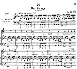 der zwerg d.771,  low voice in g minor, f. schubert