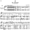 Die Allmacht D.852,  Low Voice in G Major, F. Schubert | eBooks | Sheet Music