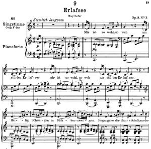 erlafsee d.586,  low voice in c major, f. schubert